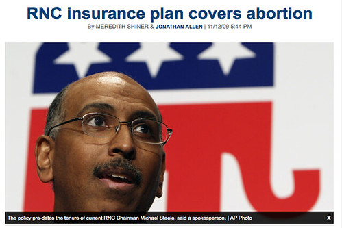RNC insurance plan covers abortion - Politico headline