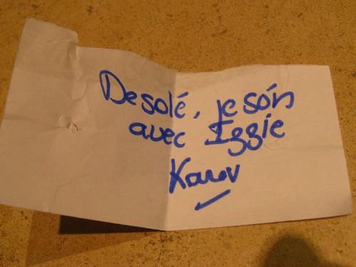 Le mot doux de Karev