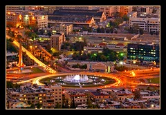 Umayyad Square at night (nahel abou hatab) Tags: colors night syria damascus sham damas  igi   supershot  golddragon nahel  nahelsyria