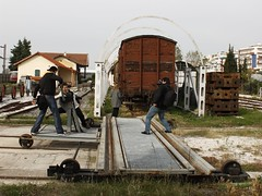 Shooting on the go... (Kalbie) Tags: museum train rail railway trains greece macedonia rails thessaloniki           railwaymuseumthessaloniki flickrgroupthessaloniki