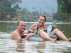 Us tubing in Vang Vieng