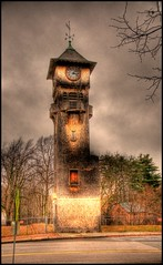 Walpole Watch Tower -- HDR Grunge (Paul Broderick) Tags: massachusetts clocktower hdr photomatix nikond90 lightroom2 walpolemassachusetts