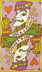 Jack of Hearts (iknitdots) Tags: illustration hearts jack retro card gras mardigras paisley seventies mardi playingcard jackofhearts