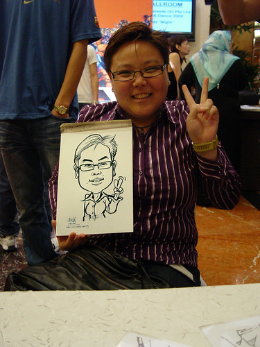 Caricature live sketching TNT Express Worldwide D&D 2009 - 7