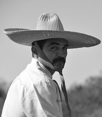 caballero (Cody Young) Tags: old horse white man black hat looking mexican sombrero mustache