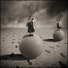 Twins Sisters have a run on balloons (yves.lecoq) Tags: —obramaestra— quelcirque
