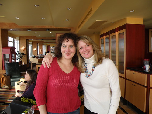 With friend and critique partner, Megan Chance