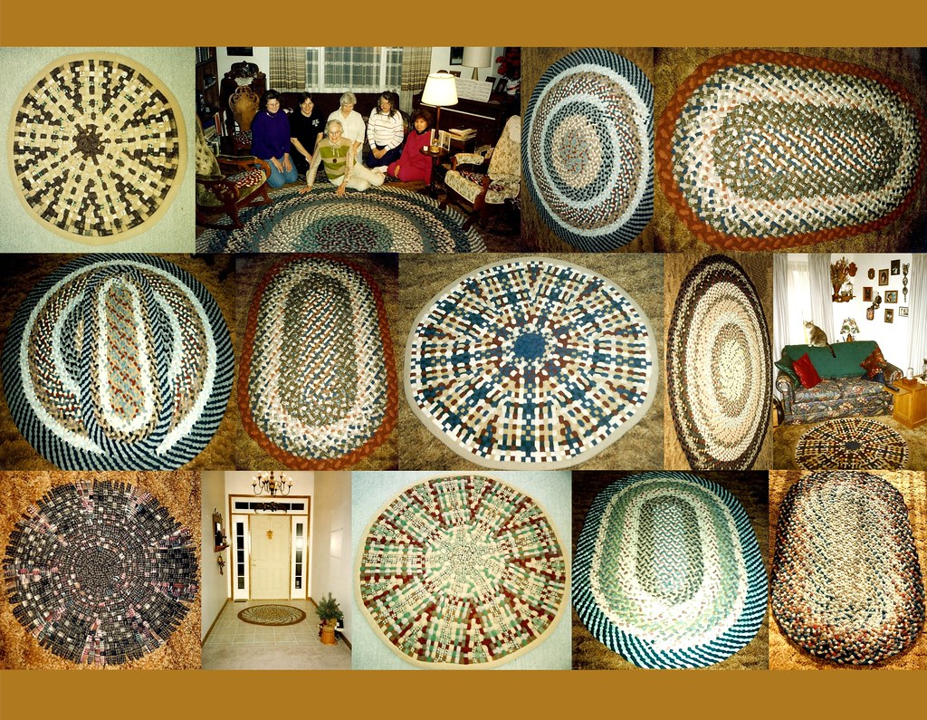 Some of my mother's woven rugs, and a rug class