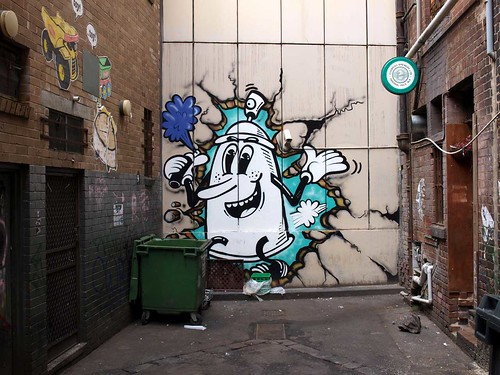 Aerosol Man Breaking Through by Wonderlust