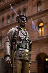 The Cenotaph - Martin Place Sydney (Craig Jewell Photography) Tags: sculpture man monument statue bronze soldier memorial war sydney australia newsouthwales cenotaph remembrance canonef50mmf12lusm gettypicks craigjewellphotography