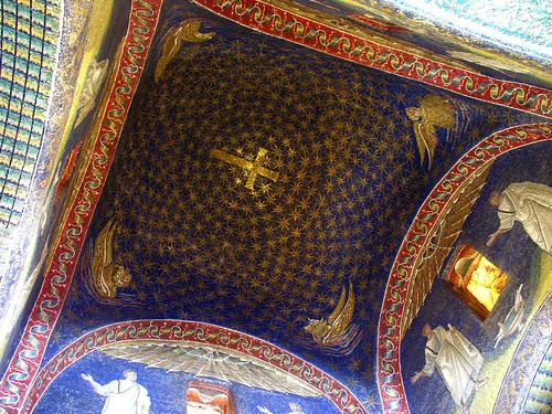 Starry dome in the Mausoleum of Galla Placidia