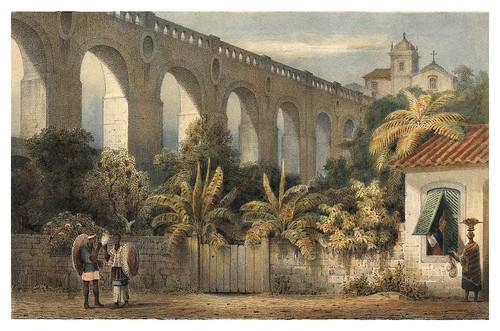 024- El acueducto de Rio de Janeiro desde la calle de Matta Cavallos-Saudades do Rio de Janeiro- Wilhelm Karl Theremin 1835