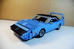 1970 Plymouth Roadrunner Superbird (lego911) Tags: auto usa classic car animal america lego plymouth nascar 1970 440 challenge v8 roadrunner musclecar lugnuts moc superbird richardpetty