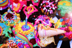 Ice Cream yummmmmyy! (La-Valrie Ltourneau) Tags: light party color cake digital fire photo rainbow colorful candy cupcake bakery muffin girlie numrique bonbon couleur multicolor chandelle arcenciel crme gteau canddle creammy muticolore