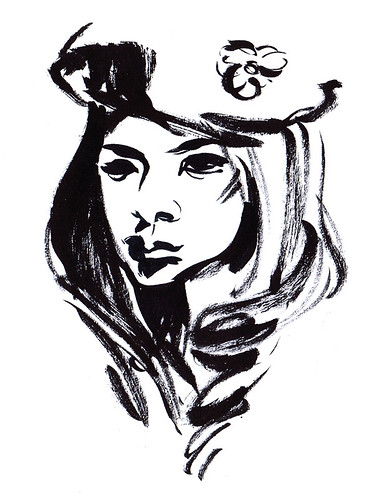 Girl in a beret