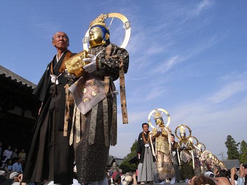 千年続く伝統のお練り『聖衆来迎練供養会式』@當麻寺