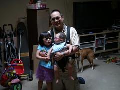 me sunglasses infant daughter inside figgy calcifer