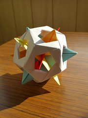 Hint for coloring faces of dodecahedron in four colors (Aneta_a) Tags: origami modularorigami polyhedron planar icosahedralsymmetry octahedralsymmetry simplepaper jamesplank tungkenlam