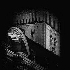 Lit up (SiKenyonImages) Tags: monochrome blackandwhite liverpool ventilation threegraces merseyside dodge burn