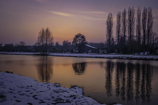 Winter sunset  in Groenekan