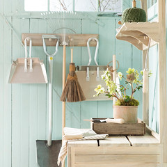 Garden Potting Shed (Heath & the B.L.T. boys) Tags: shed organize hooks wood broom twine shelves tools gardening