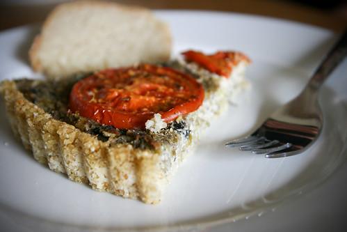 Mushroom and Leek Tofu Tart