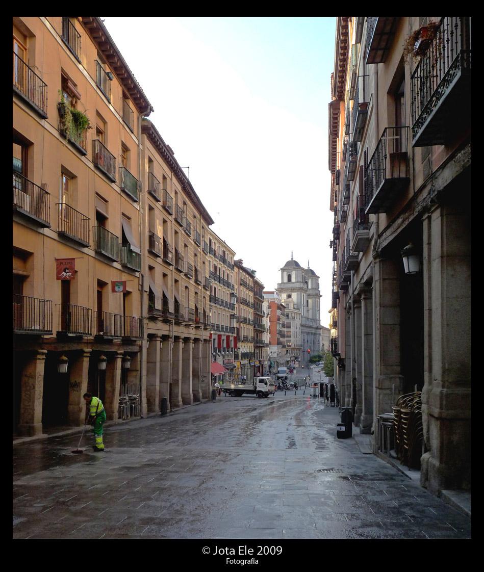 Calle de Toledo desde la Plaza Mayor