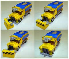 LEGO Snow Plow Road Salter Collage (notenoughbricks) Tags: road city snow lego plow snowplow sander 20011 legocity foitsop brickmaster legobrickmaster20011 legosnowplow legoroadsander