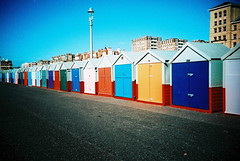 Brighton Huts (25ThC) Tags: camera film 35mm lomo lca xpro lomography brighton kodak crossprocess huts british 100 analogue seafront elitechrome kodakelitechrome100 25thc empadminfavesoct2009