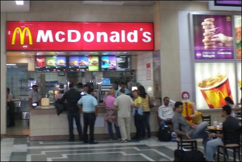 Delhi Airport McDonald's
