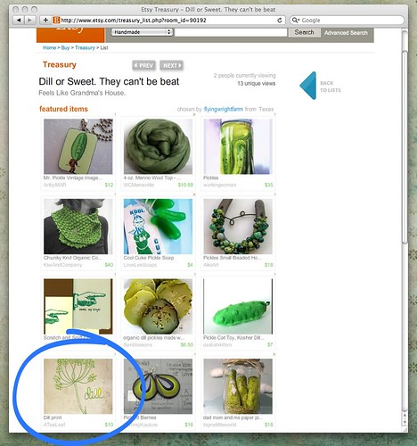 Etsy Treasury - Dill or Sweet. They can't be beat
