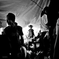 i'm here! (1davidstella) Tags: light blackandwhite bw fruits rural dark nikon market crowd streetphotography durian kotakinabalu 1855mm nikkor dim sabah hawker tamu d300 putatan 1davidstella 4tografie