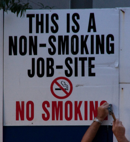 Non Smoking Job Site