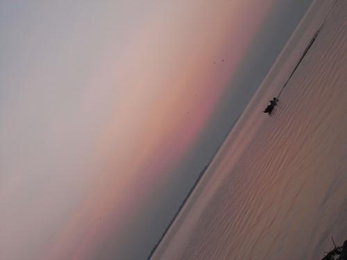 琵琶湖の夕焼け-14