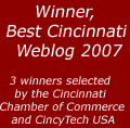 Winner, Best Cincinnati Weblog 2007