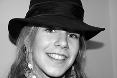 DSC_0039-2 Bex (mary~lou) Tags: portrait blackandwhite girl hat fletcher nikon d70 mary hats gamewinner 15challengeswinner challengefactorywinner thechallengefactory mary~lou pregamewinner
