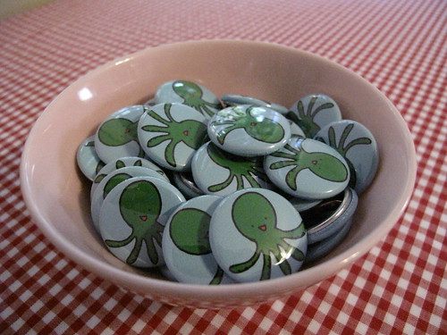 A bunch of Octopus buttons.