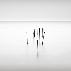 Just lines V (p i c a) Tags: longexposure sea seascape beach water strand skne seaside sweden pole vatten hav resund bjrred ndfilter bwnd110