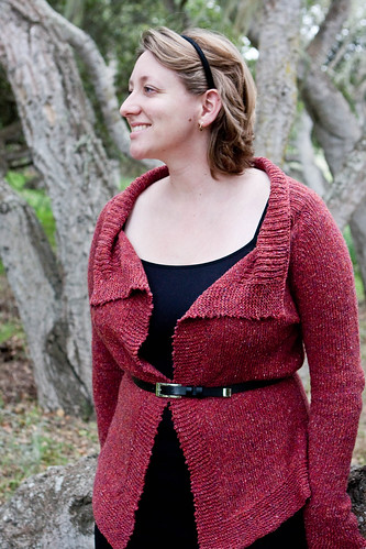 Mimi's Ruby Cardigan - Front View