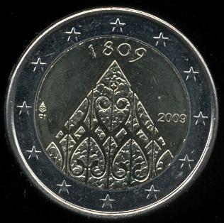 2 euro Fínsko 2009 - 200 výročie nezávislosti a Porvoo Diet