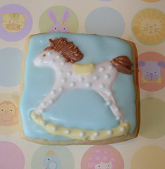 Getti-Up Horsie (alicakescupcakery) Tags: blue boy horse cookie rocking rockinghorse babyshower alicakes alicakescupcakery