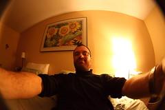 Fisheye me in bed (hpulley) Tags: fisheye peleng8mmf35 canondigitalrebeleost1i pentaxscrewtoefmountconverter