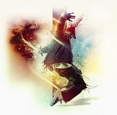 Move! (ultradialectics visual design) Tags: art photoshop design dance jump move ultradialectics