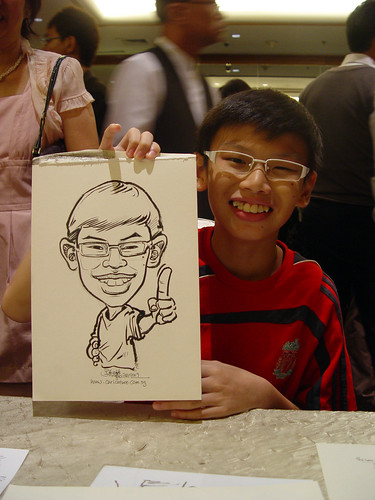 Caricature live sketching for wedding dinner 221109 - 7