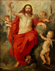 Christ triumphant over death and sin (Ramon2002) Tags: wood france museum painting palace strasbourg oil palais rubens rohan finearts peterpaul pierrepaul 16151616 christtriumphantoverdeathandsin