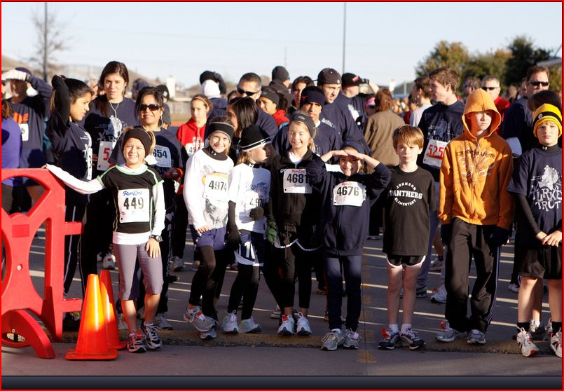 Start Line of the Sachse Turkey Trot 2009