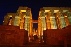 (718) Säulensaal Luxor (avalon20_(mac)) Tags: africa history architecture night geotagged town egypt architektur 500 luxor ägypten tempel misr eos40d schulzaktivreisen