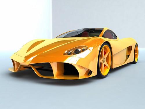 Orange New Cars Ferrari 599 GTO