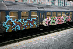 HBS MHDS BLOW (phluids) Tags: train copenhagen denmark graffiti steel graf blow danish hbs 2009 valby mhds
