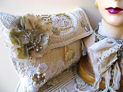 Crystal Palace Clutch (AllThingsPretty) Tags: flowers wedding party white green net vintage bag evening leaf soft day handmade linen lace antique cream silk shell australia sage special clutch etsy abalone eastern applique occasion pau beaded headband motifs bullion millinery tatted
